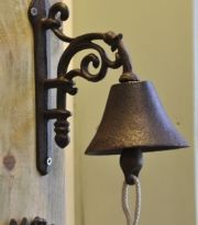 Cast iron Flower style doorbell