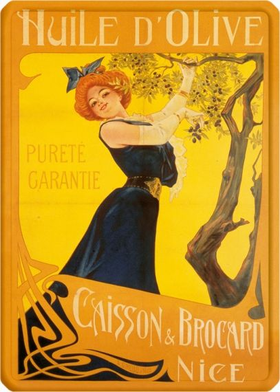Metal Poster - HUILE D'OLIVE CAISSON METAL15X21CM