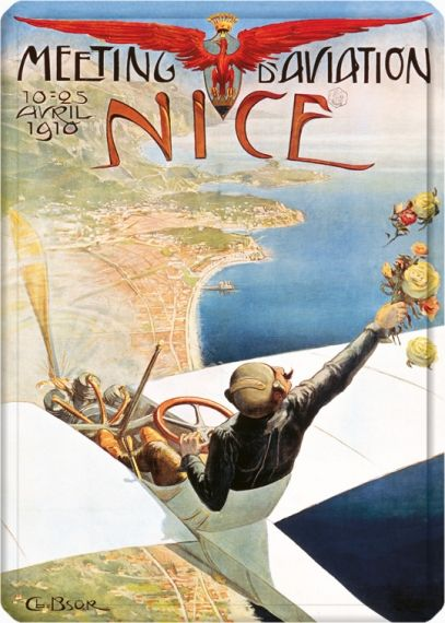 Metal Poster - MEETING D'AVIATION NICE METAL15X21