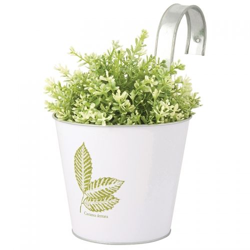 Leafprint flowerpot with hook