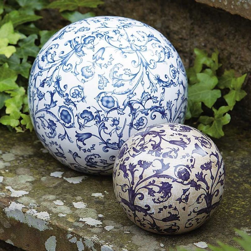 Aged Ceramic Ball In Dia 12 Cm