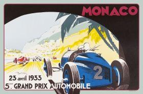 Amerikan Servis 2'li - MONACO 1933 Géo Ham 45 x 30cm