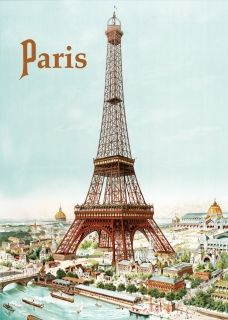 Metal Poster - PARIS TOUR EIFFEL 30 x 40