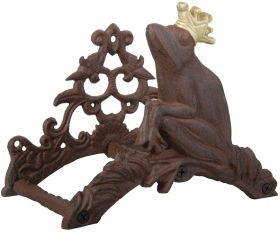 House2Home Hoseholder Frog king antique rust