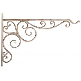 Aged Metal hanging basket hook