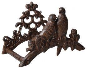 House2Home Antik Döküm Koleksiyon - Kuşlu Duvar Hortum Askısı
