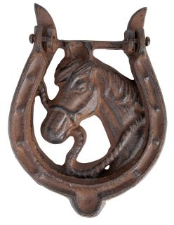 Door knocker horseshoe