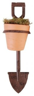 Flower pot holder spade