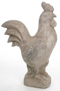 Cement rooster decor