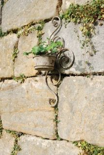 Aged Metal Wall planter