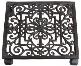 Cast iron planttrolley square