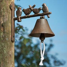 House2Home Antik Döküm Koleksiyon - Kuşlu Kapı Çanı
