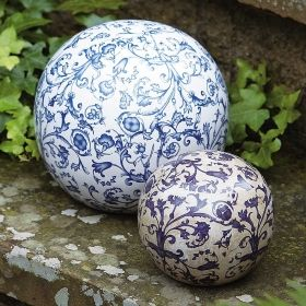 Aged ceramic Ball in dia 12 cm