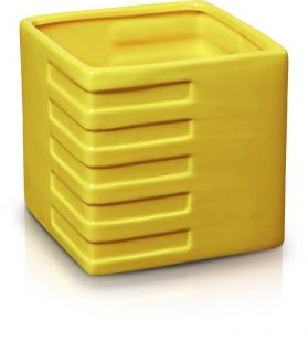 Yellow Square Flower Pot