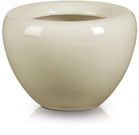 Apple Shaped Flower Pot in Cream