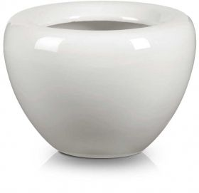 Apple Shaped Flower Pot in White