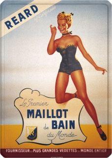 Metal Poster - MAILLOT DE BAIN REARD METAL15X21CM