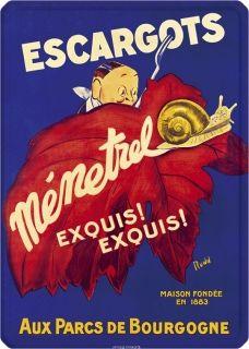 Metal Poster - ESCAGOTS MENETREL METAL 15X21CM