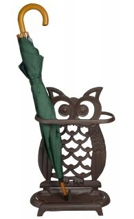 Cast Iron Owl Umbrella stand