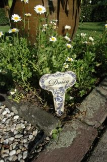 Aged ceramic plant markers