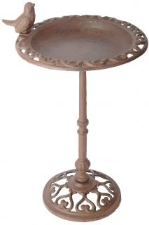 Birdbath on pole 39cm