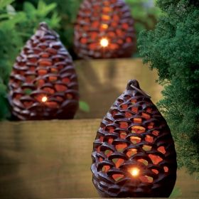 Cast iron Pinecone lantern Large
