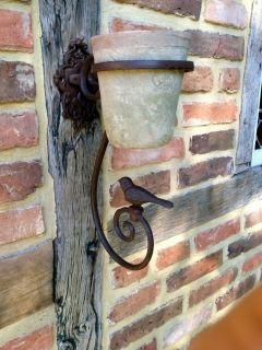 House2Home Antik Döküm Koleksiyon - Kuşlu  Saksılık