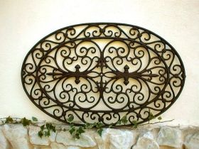 Doormat cast iron oval