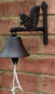 Cast iron Doorbell squirrel