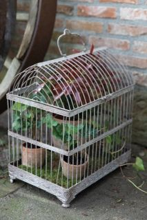 Aged Metal Wire Cage