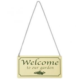 House2home Metal Welcome Levhası  18x9,2cm