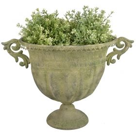 House2home Oval Antik Metal  Urn 46,4cm.