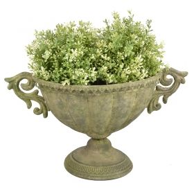 House2home Antik Metal Oval Urn