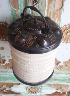 "Handmade Ottoman Hanging Copper Lantern Dia: 8.26"" Lamp Candle Holder Concertina Lantern"