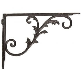 Cast iron Bookshelf bracket antique brown