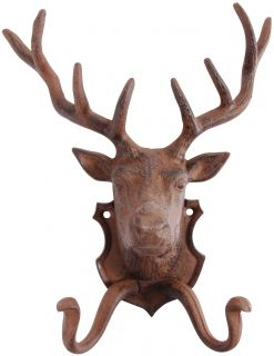 Cast iron Wallhook deer
