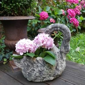 Aged ceramic  Bird bath