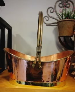 Copper flower girl  basket