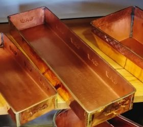 Rectangular Copper Plant Tray