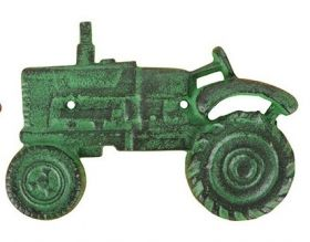 Tractor Bottle Opener,Cast Iron, Green