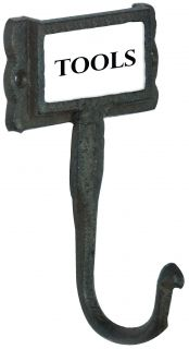 Cast iron Coat & Bowler Hat Hook