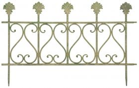 Aged Metal Green Fence (small)  60,5x1,4x38,7 cm