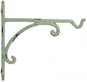 Hanging Basket Hook, Cast Iron, Green