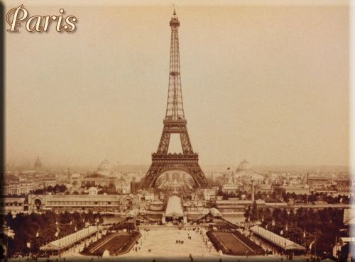 Metal Kartpostal - PARIS TOUR EFFEIL N°1 15 x 21