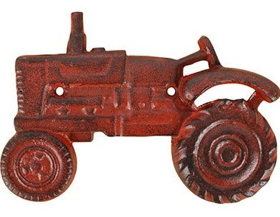 Tractor Bottle Opener, Cast Iron, Red