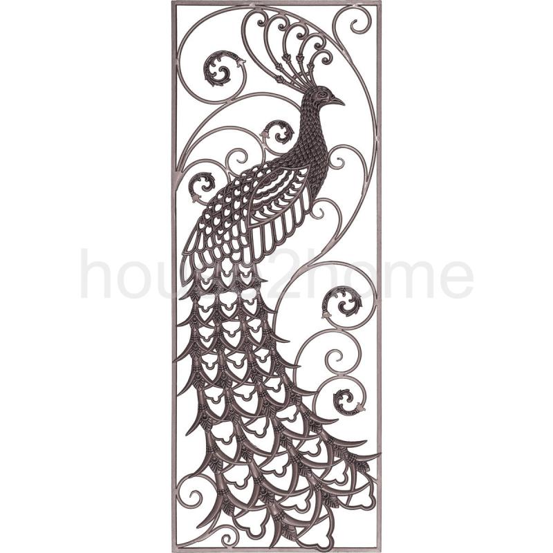 House2home Tavus Kusu Desenli Demir Dokum Sol Panel 160x60cm