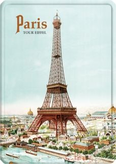 Metal Poster - PARIS TOUR EIFFEL CP  15X21