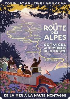 Metal Poster - LA ROUTE DES ALPES BRODERS 15X21
