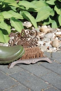 CAst iron Boot brush butterfly
