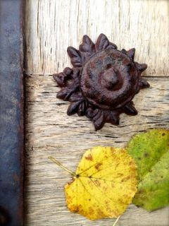 Cast iron doorknobs